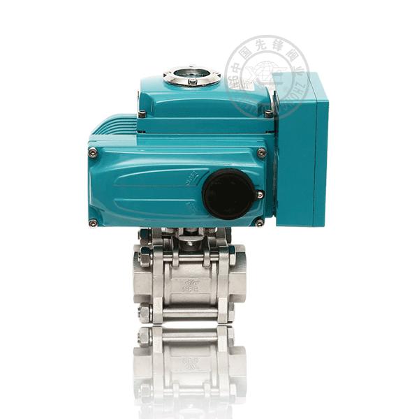 Q911F-16P/R 電動內螺紋浮動球直通流道軟密封不銹鋼(304、316)三片式球閥