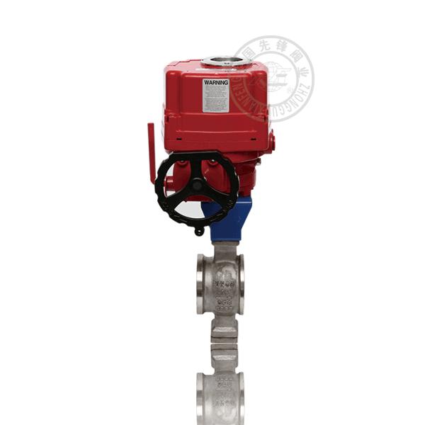 VQ971 V型防爆對夾電動球閥
