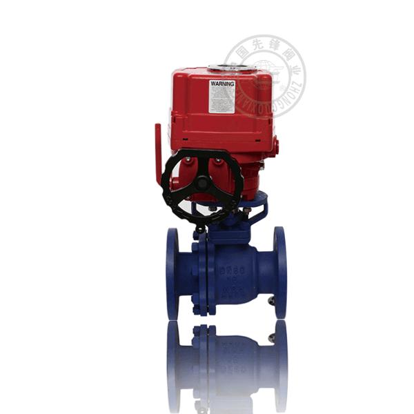 Q941F4/F46-16C 電動法蘭浮動球直通流道內襯聚四氟乙烯/炳烯鑄鋼(WCB)防爆球閥