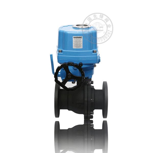 Q941H-16C 電動法蘭浮動球直通流道硬密封鑄鋼(WCB)防爆球閥
